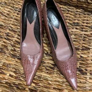 Brown Couture pumps